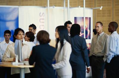 attending an exhibition